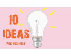 10 бизнес идеи за 2019г